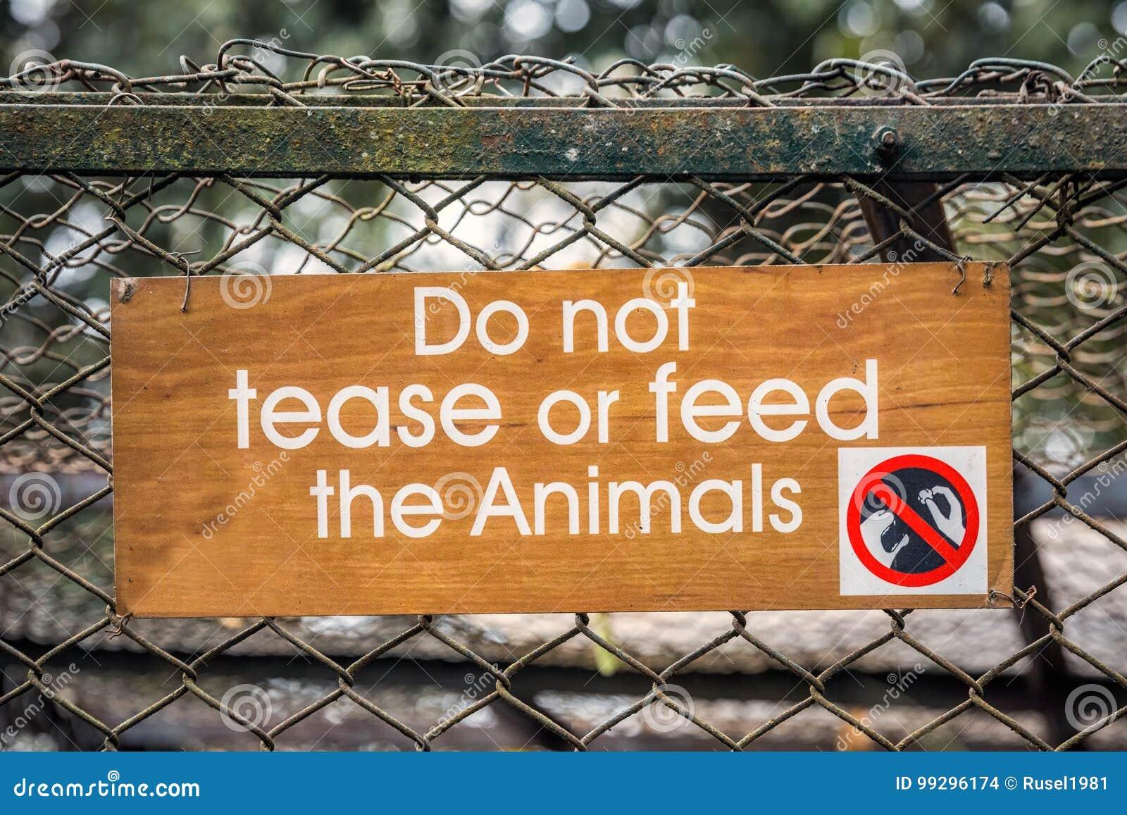 Panneau d avertissement de zoo