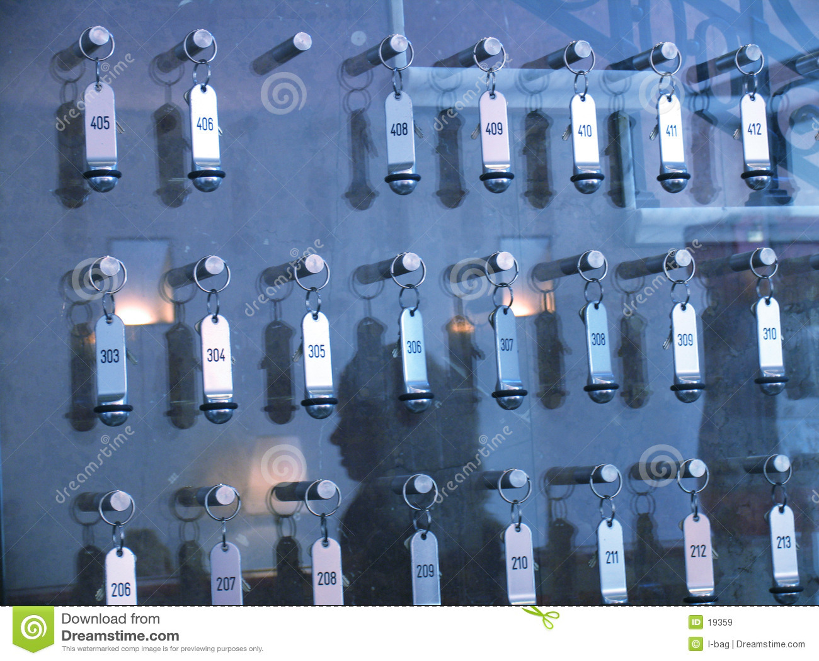 Panneau de clés d hôtel