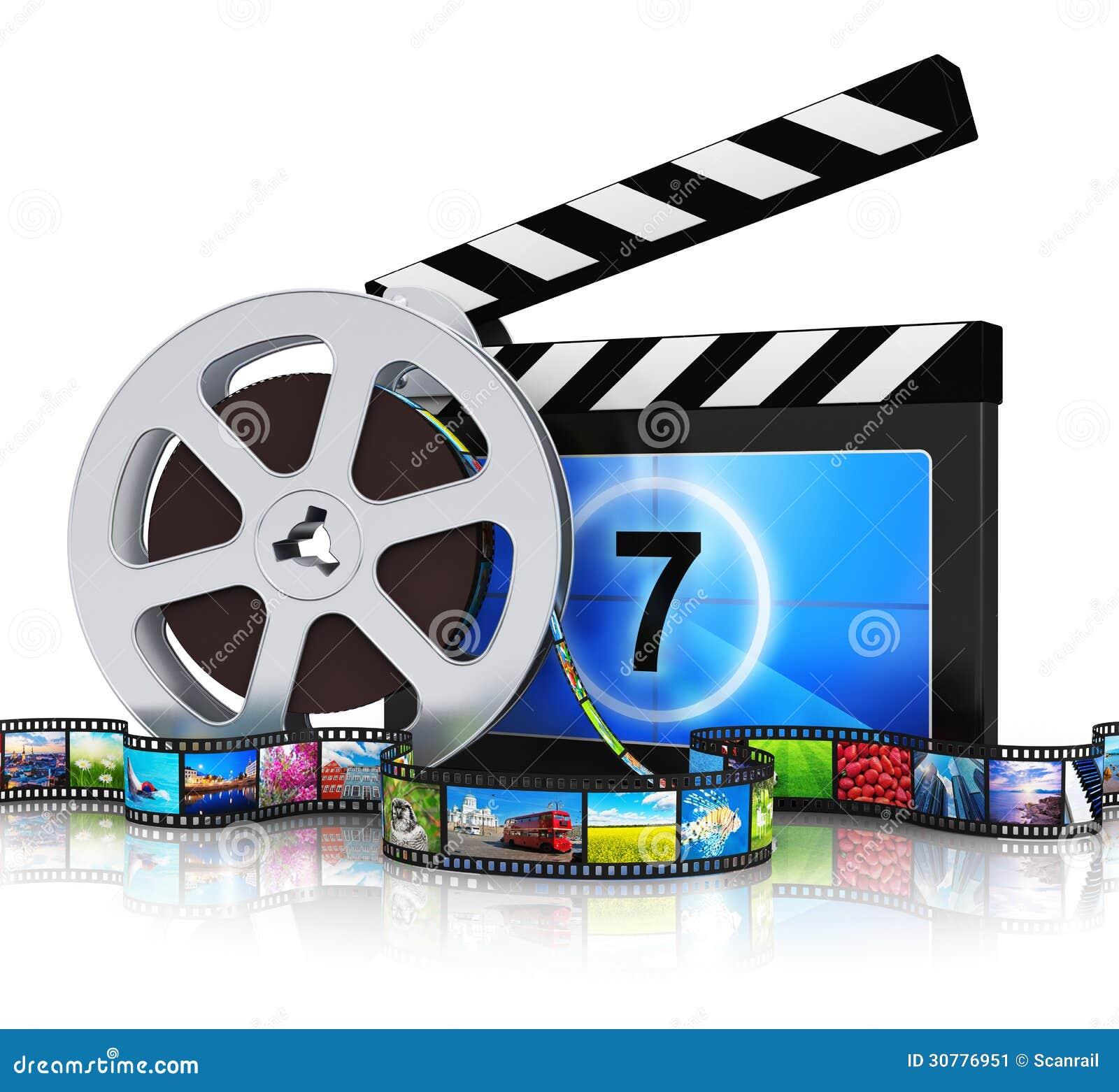 Panneau de clapet, bobine de film et extrait de film