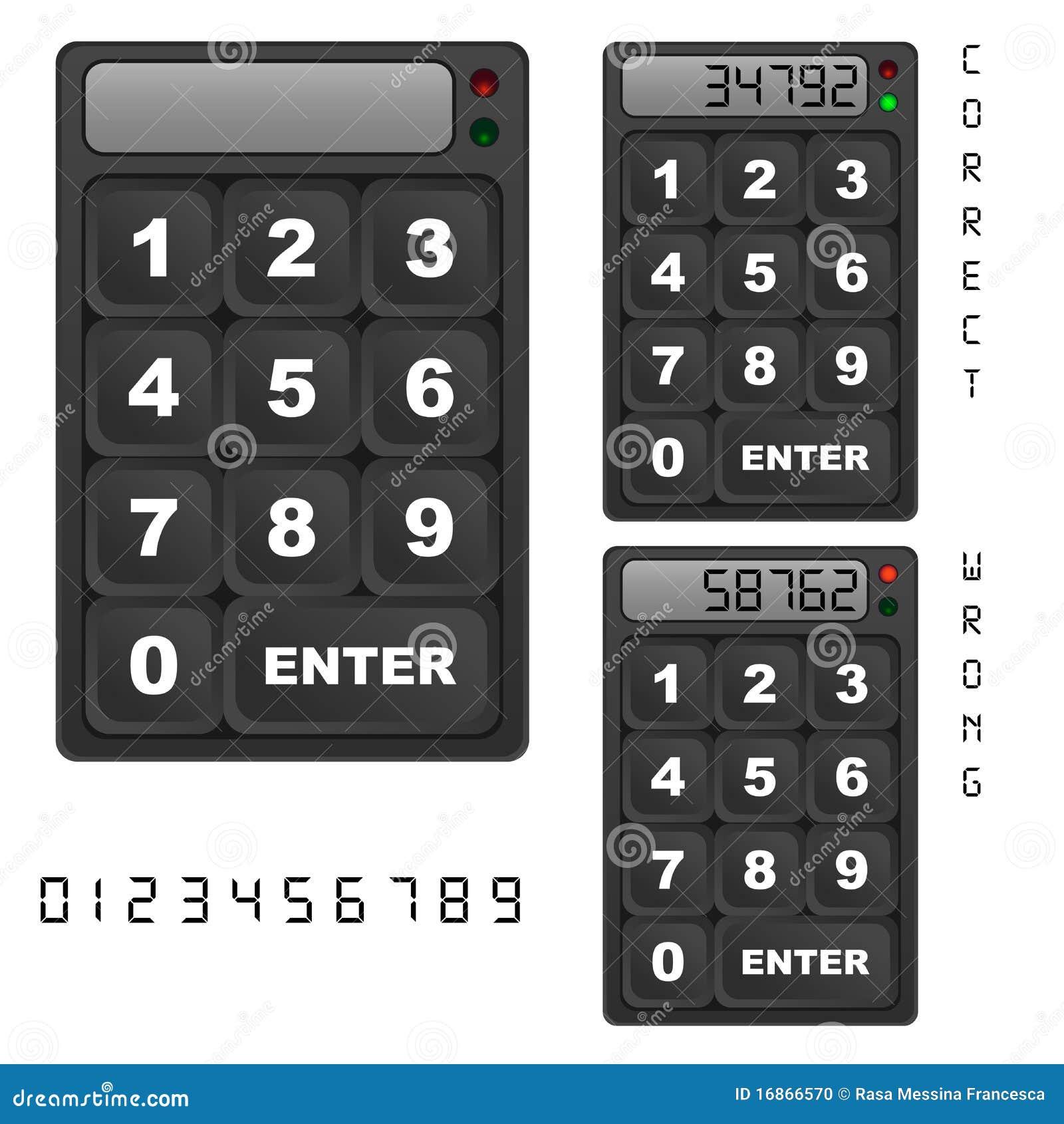 Panneau de commande de clavier numérique de garantie