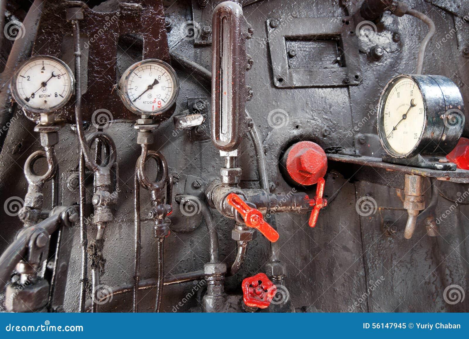 Panneau de commande de machine à vapeur