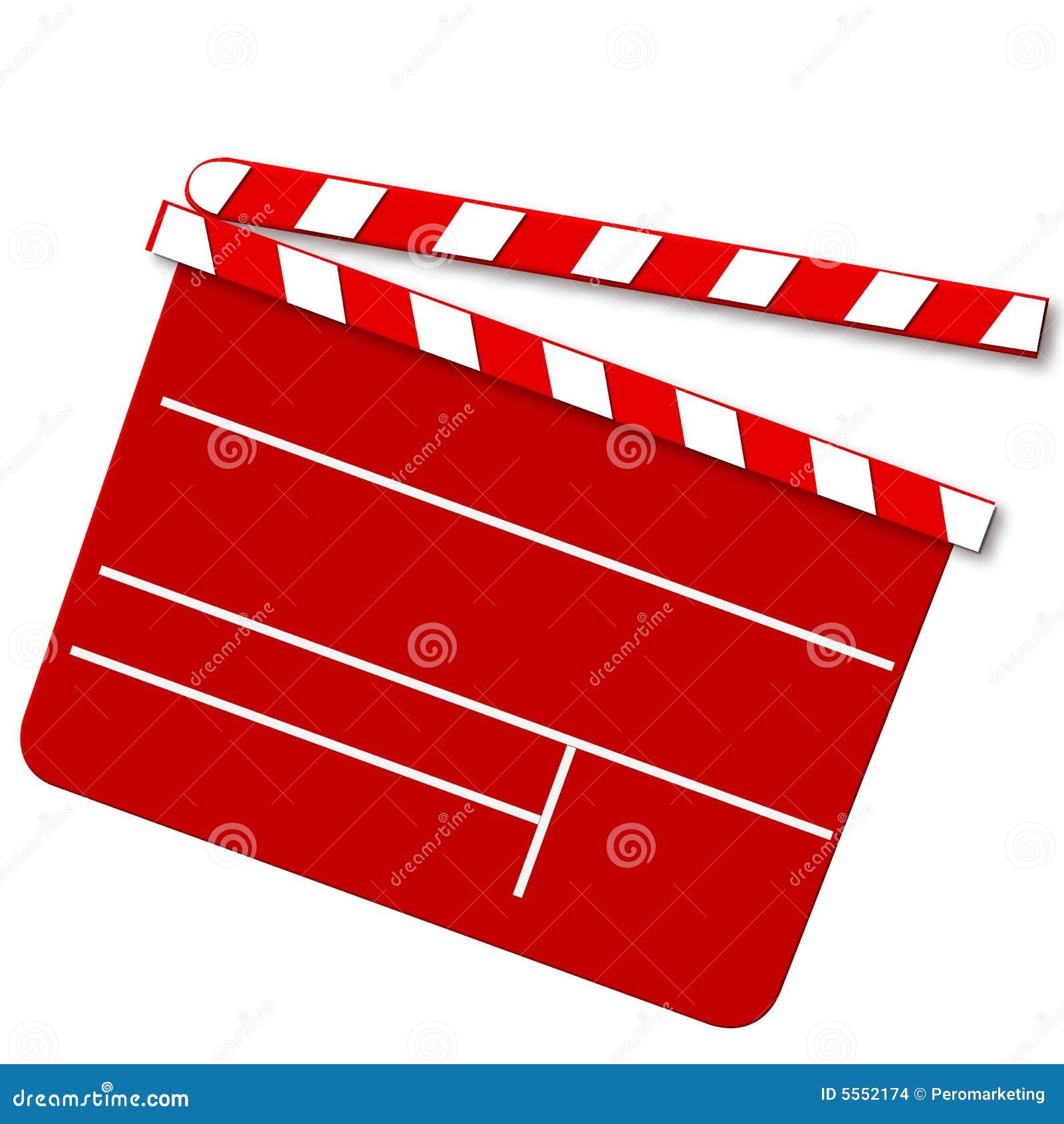 Panneau de tape de film en rouge