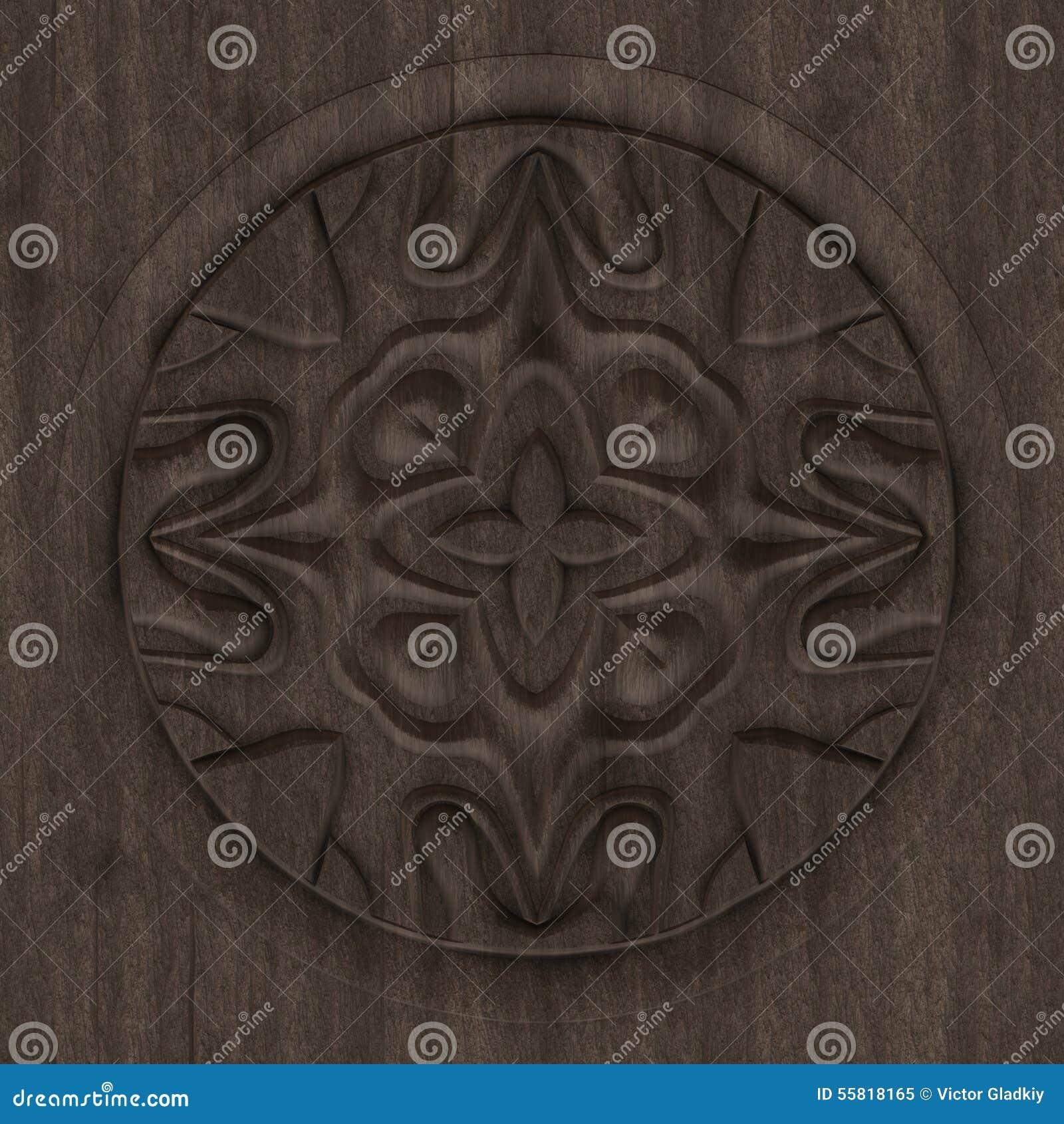 Panneau en bois d coratif illustration stock image 55818165 - Panneau bois decoratif ...