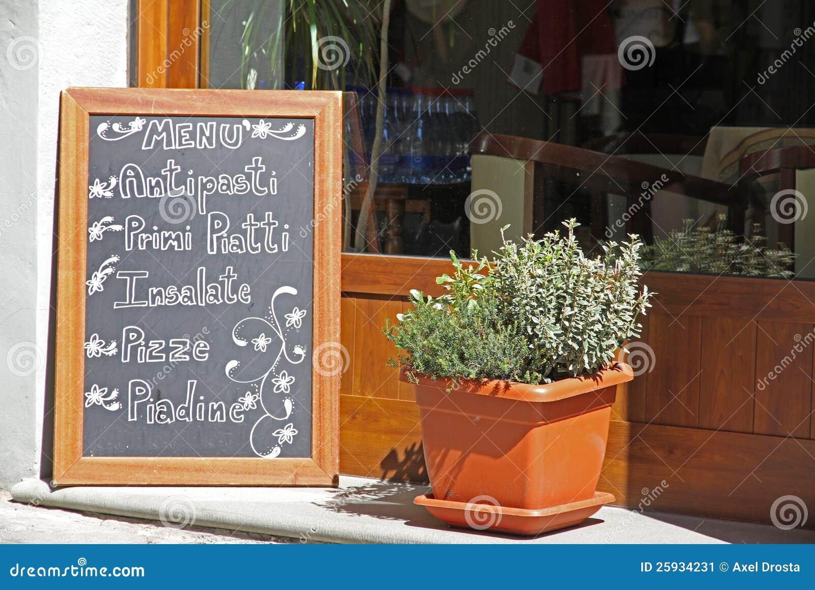 Panneau ext rieur de carte de restaurant image stock for Panneau exterieur restaurant