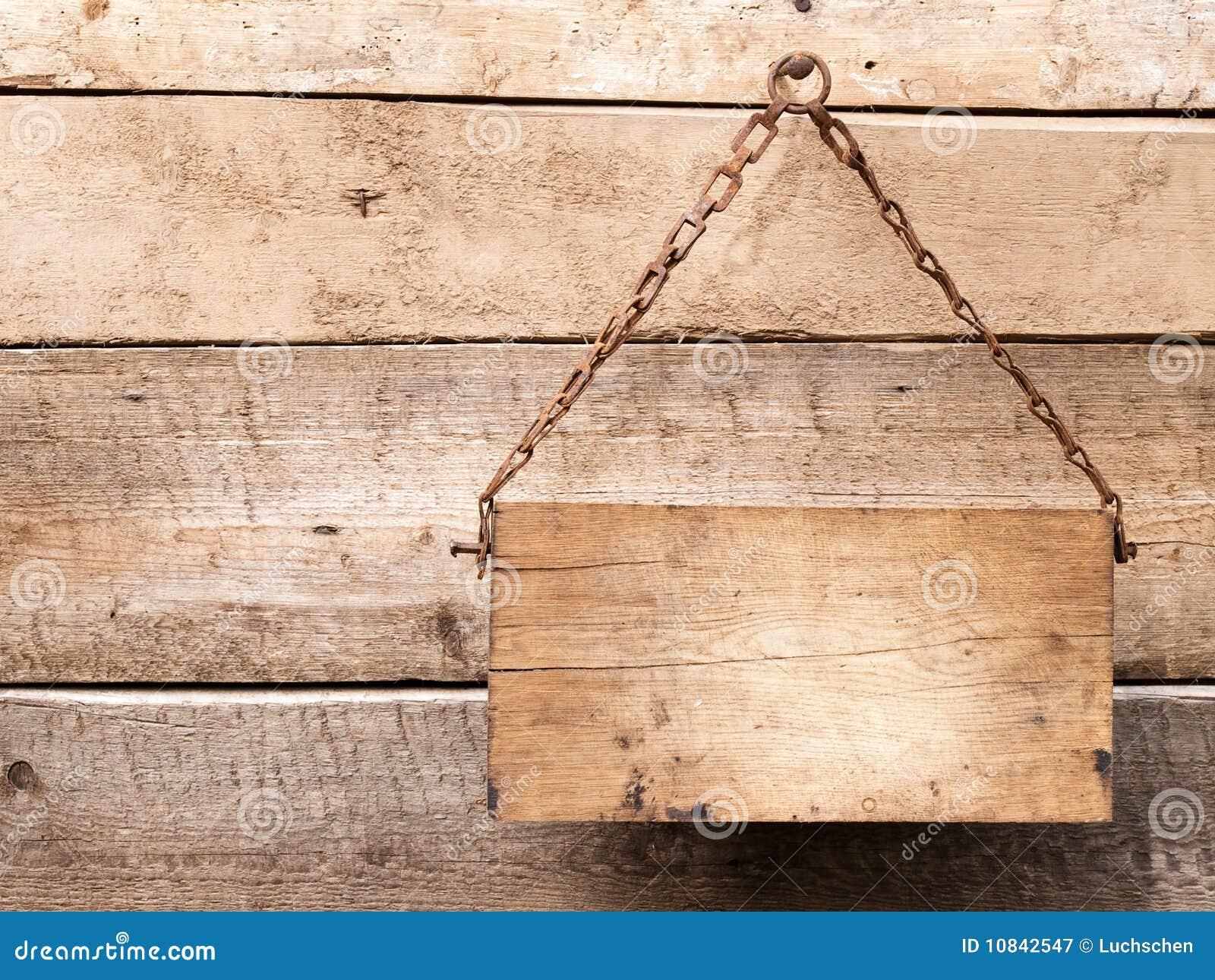 Panneau indicateur en bois