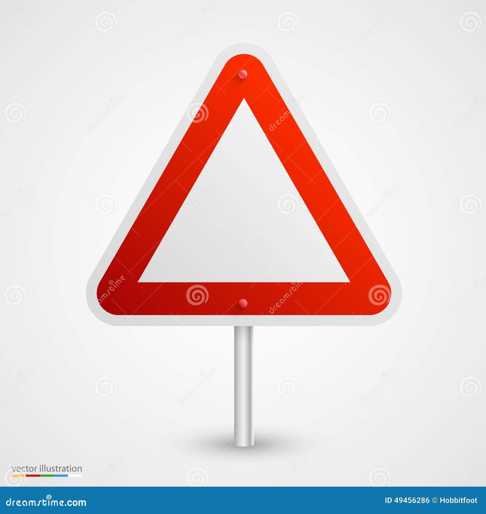 Panneau routier de danger