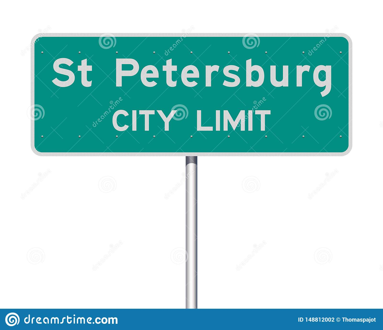 Panneau routier de limite de ville de St Petersburg