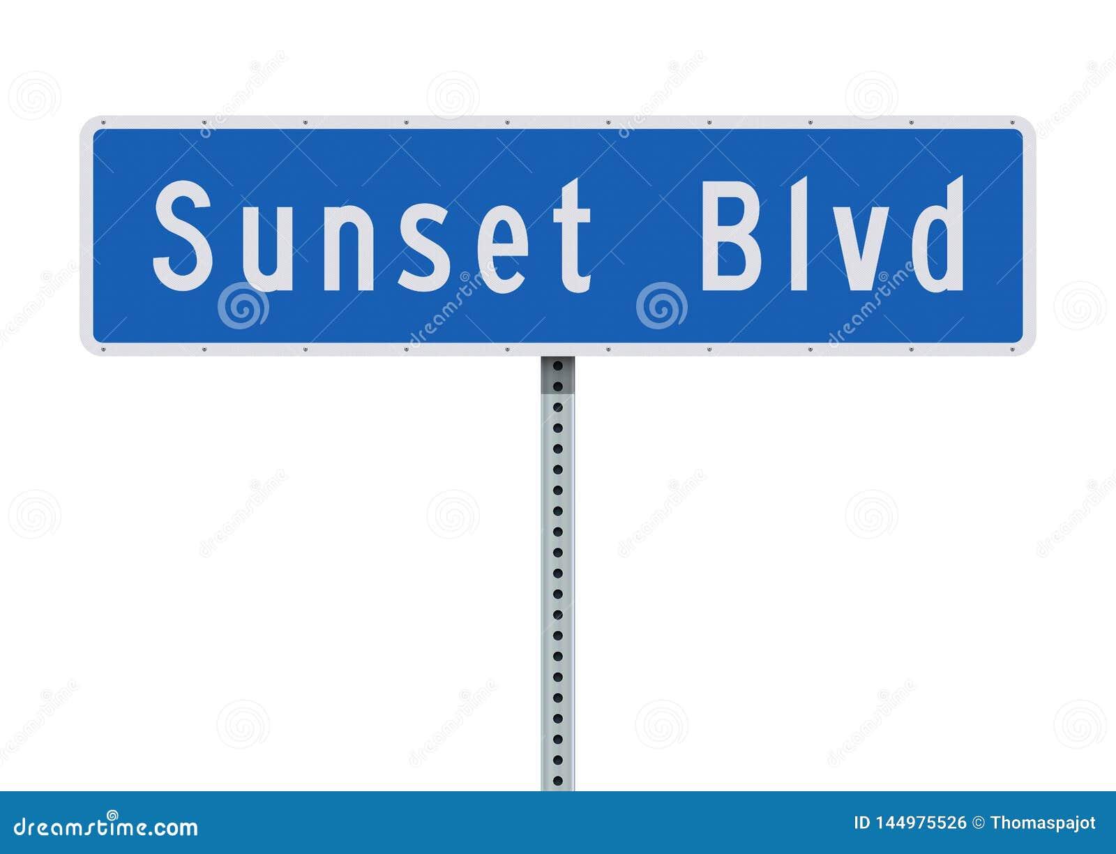 Panneau routier de Sunset Boulevard