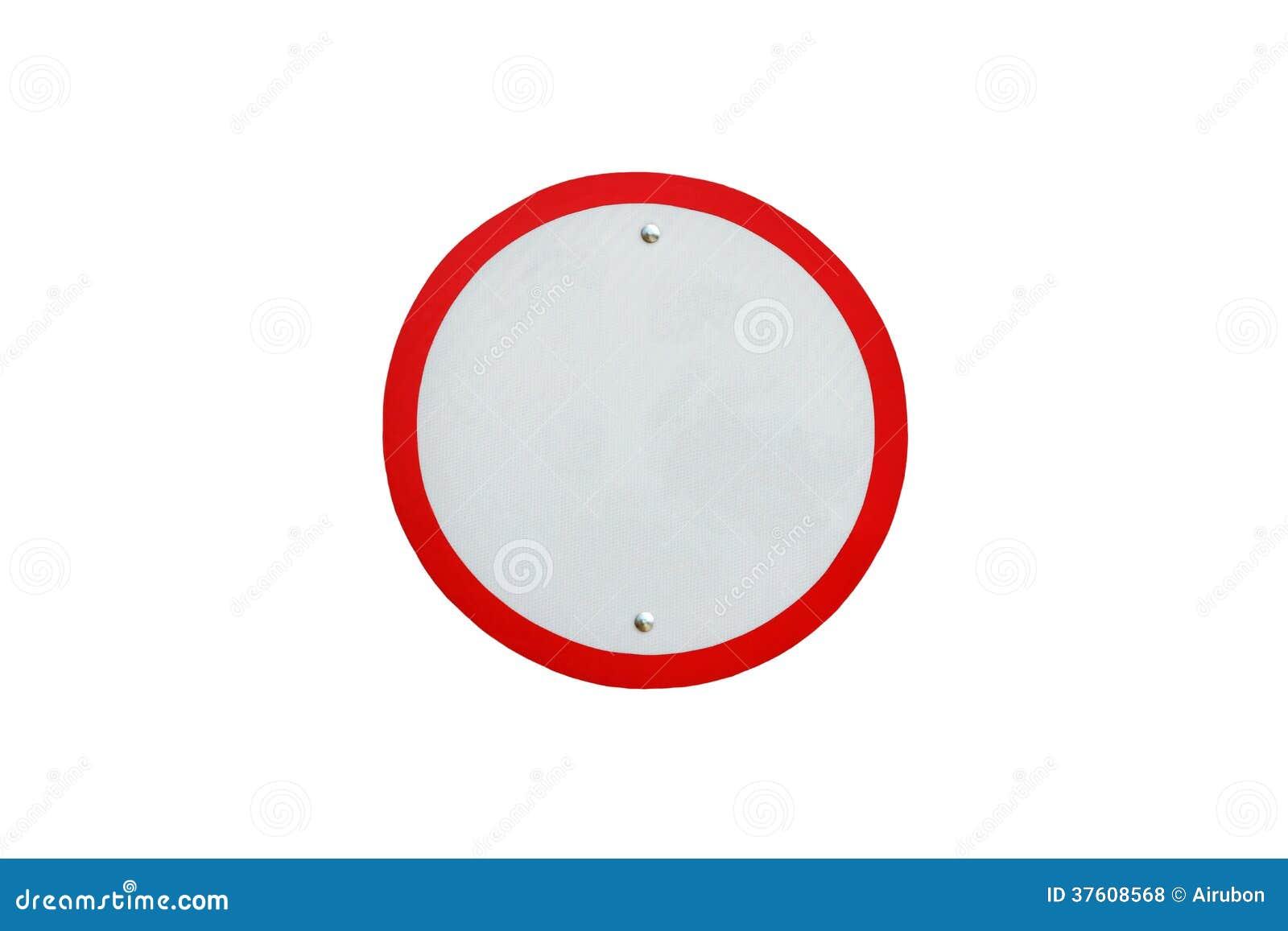 panneau routier vide du trafic de cercle photos libres de droits image 37608568. Black Bedroom Furniture Sets. Home Design Ideas