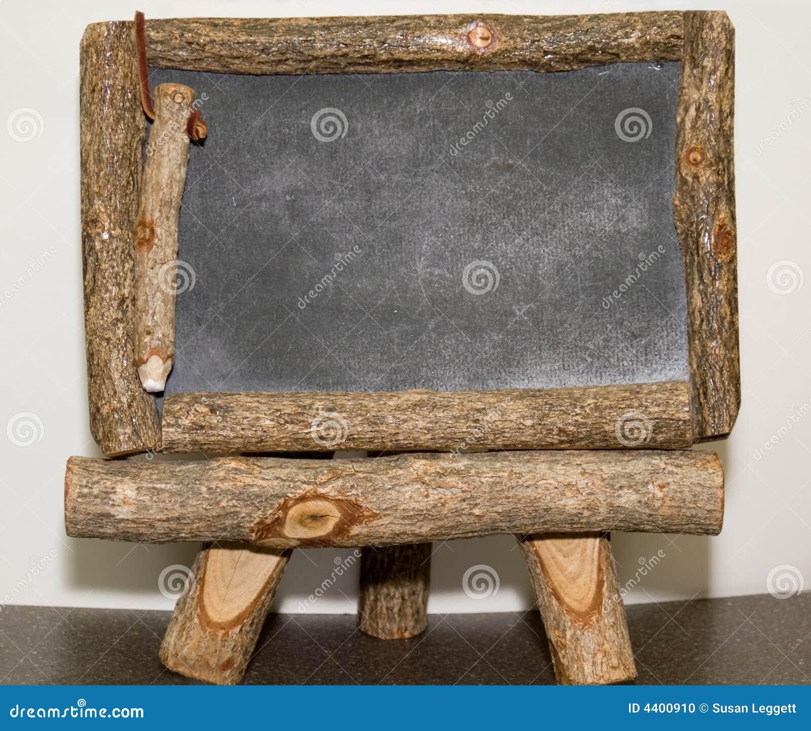 Panneau rustique de craie/note