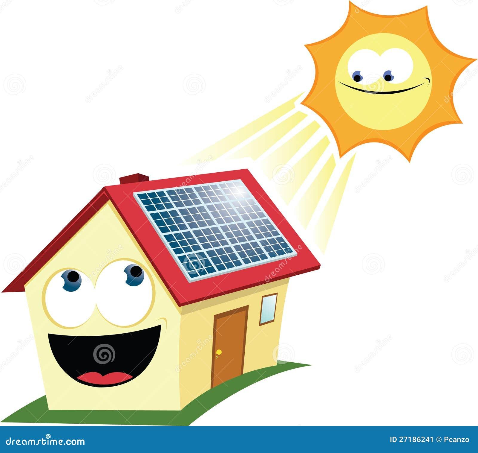 Panneau solaire dr le illustration de vecteur image du cartoon 27186241 - Prix panneau solaire pour maison ...
