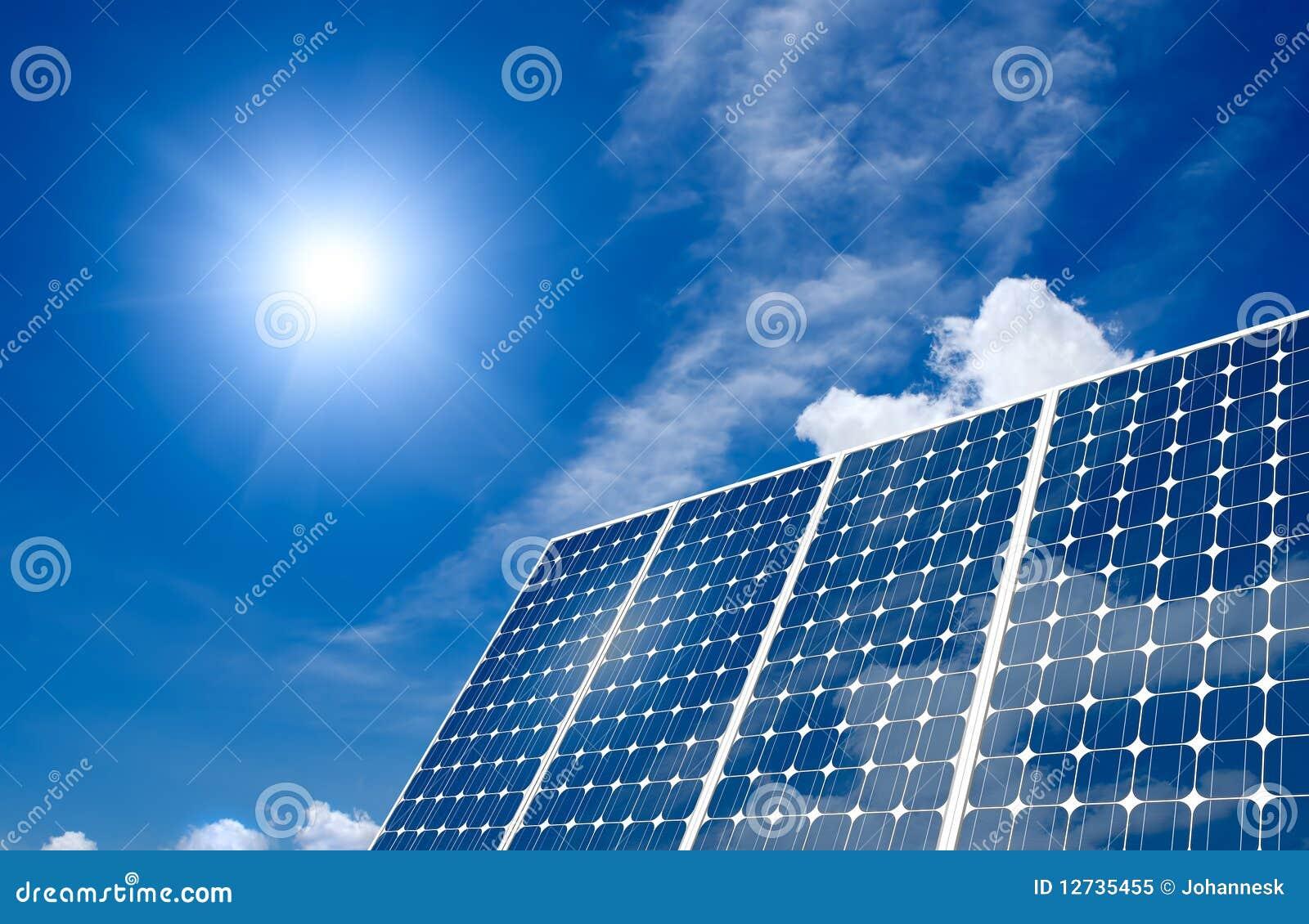 panneau solaire et soleil photo libre de droits image 12735455. Black Bedroom Furniture Sets. Home Design Ideas