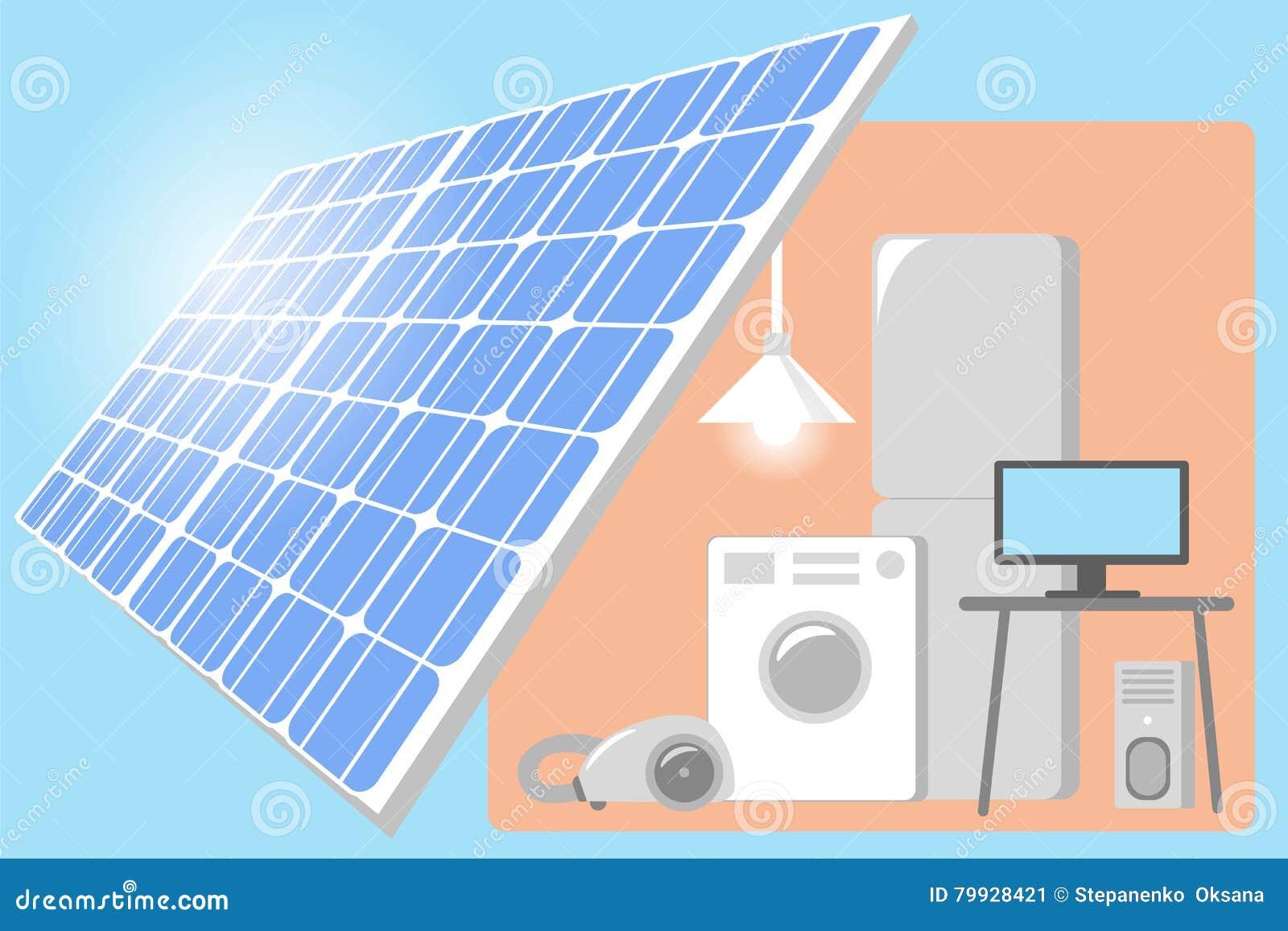 Puissance Panneau Photovoltaique tout panneau solaire sur un toit de la maison - puissance d'énergie