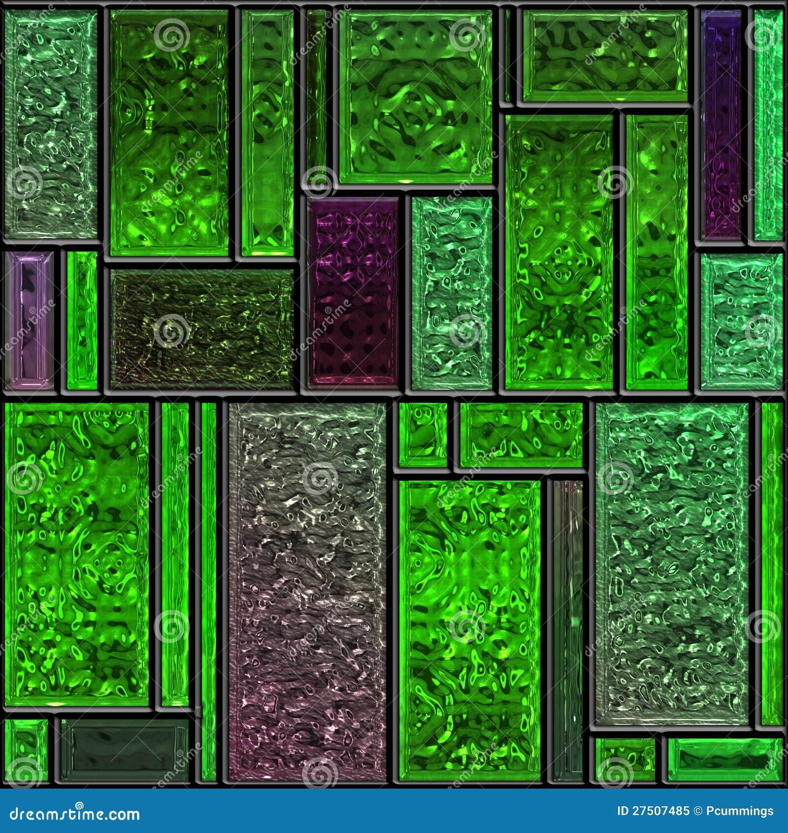 Panneau vert texturisé sans joint en verre souillé
