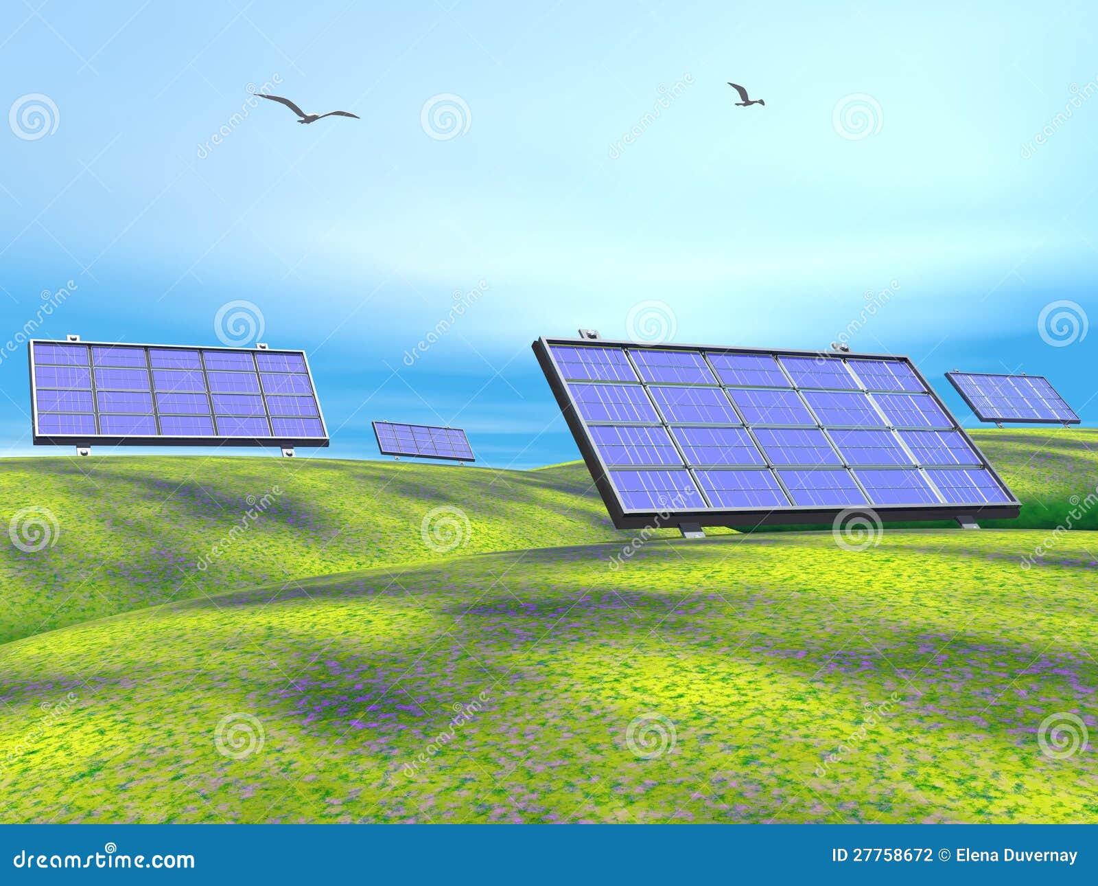Panneaux solaires en nature