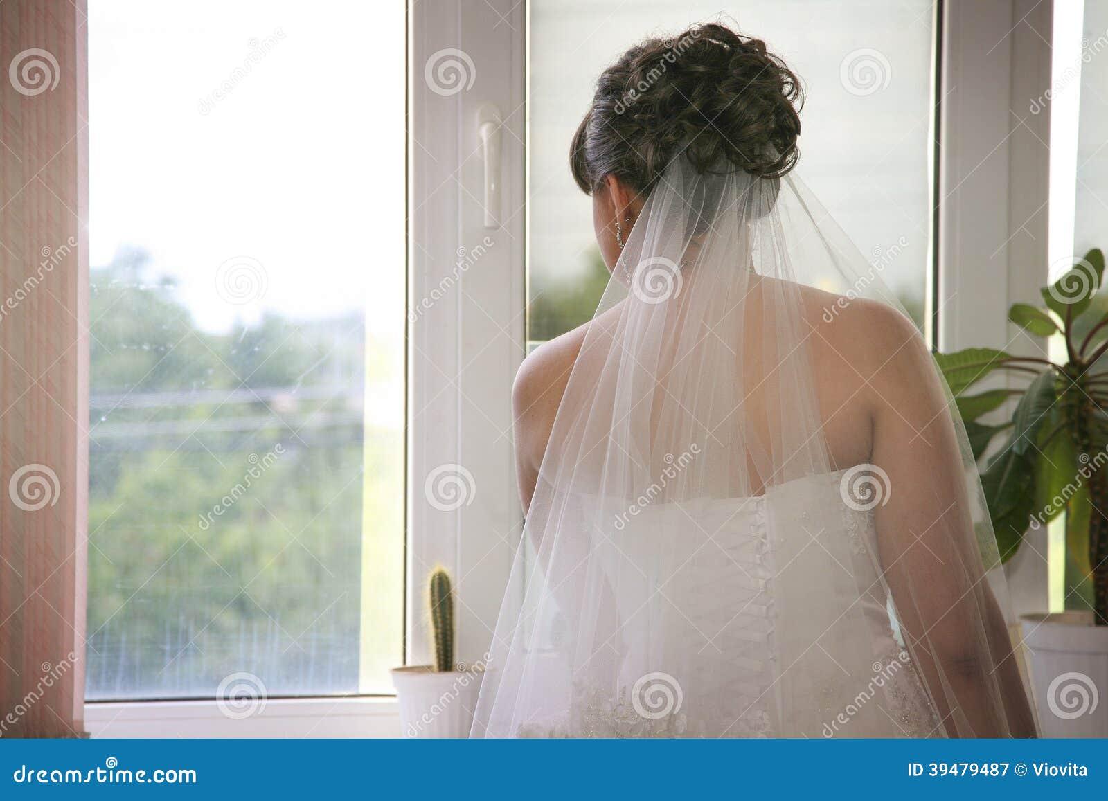 Panny młodej czekanie dla jej fornala