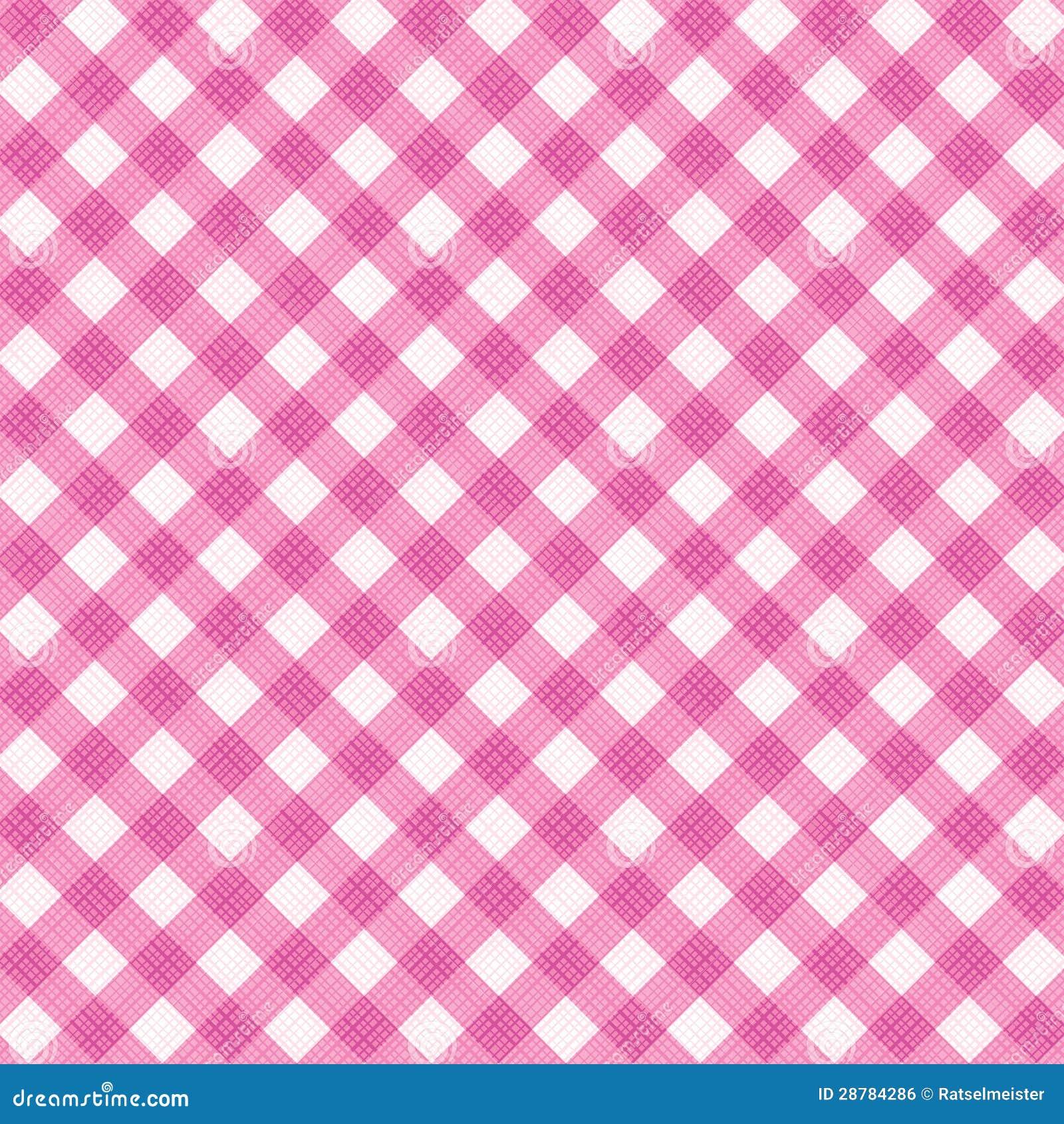 Pano cor-de-rosa da tela do guingão, teste padrão sem emenda incluído