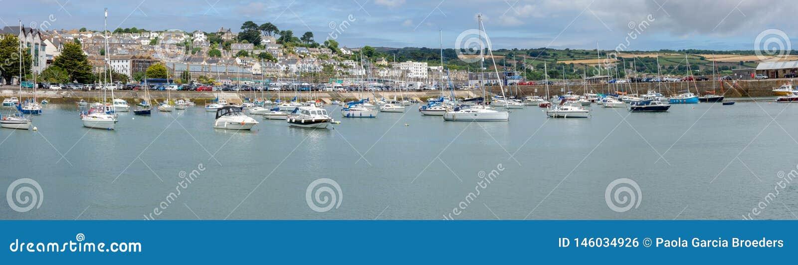 Pano de port de Penzance, les Cornouailles Angleterre R-U