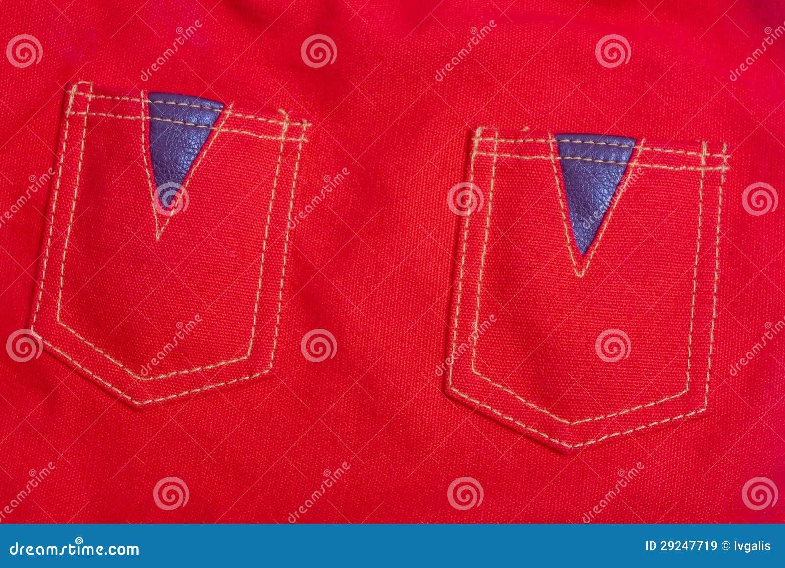 Download Pano Do Vermelho Do Dois-bolso Imagem de Stock - Imagem de superfície, indústria: 29247719