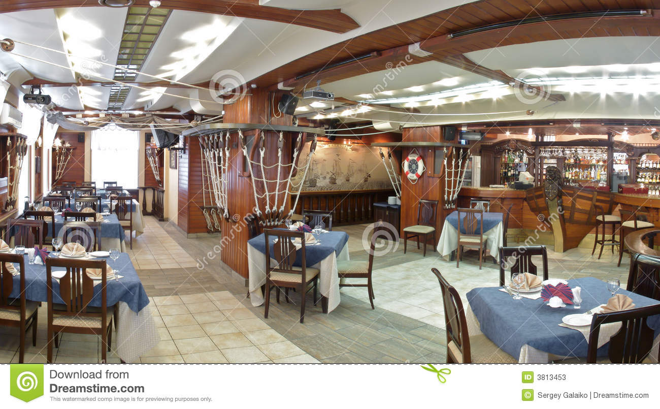 Panoram Of The Restaurant Stock Image Image Of Metal 3813453