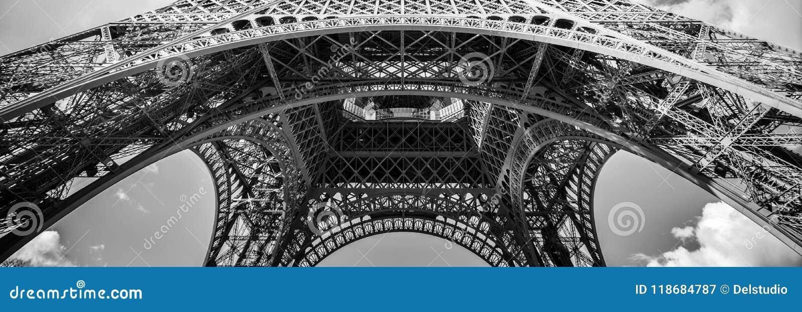 Panorama abstrato da torre Eiffel, Paris França