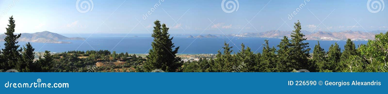 Panorama aegean widok