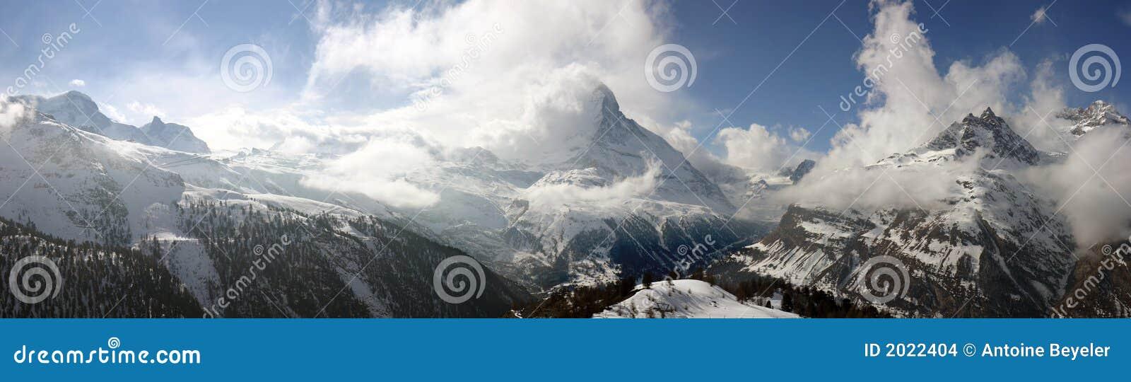 Panorama alpestre suizo