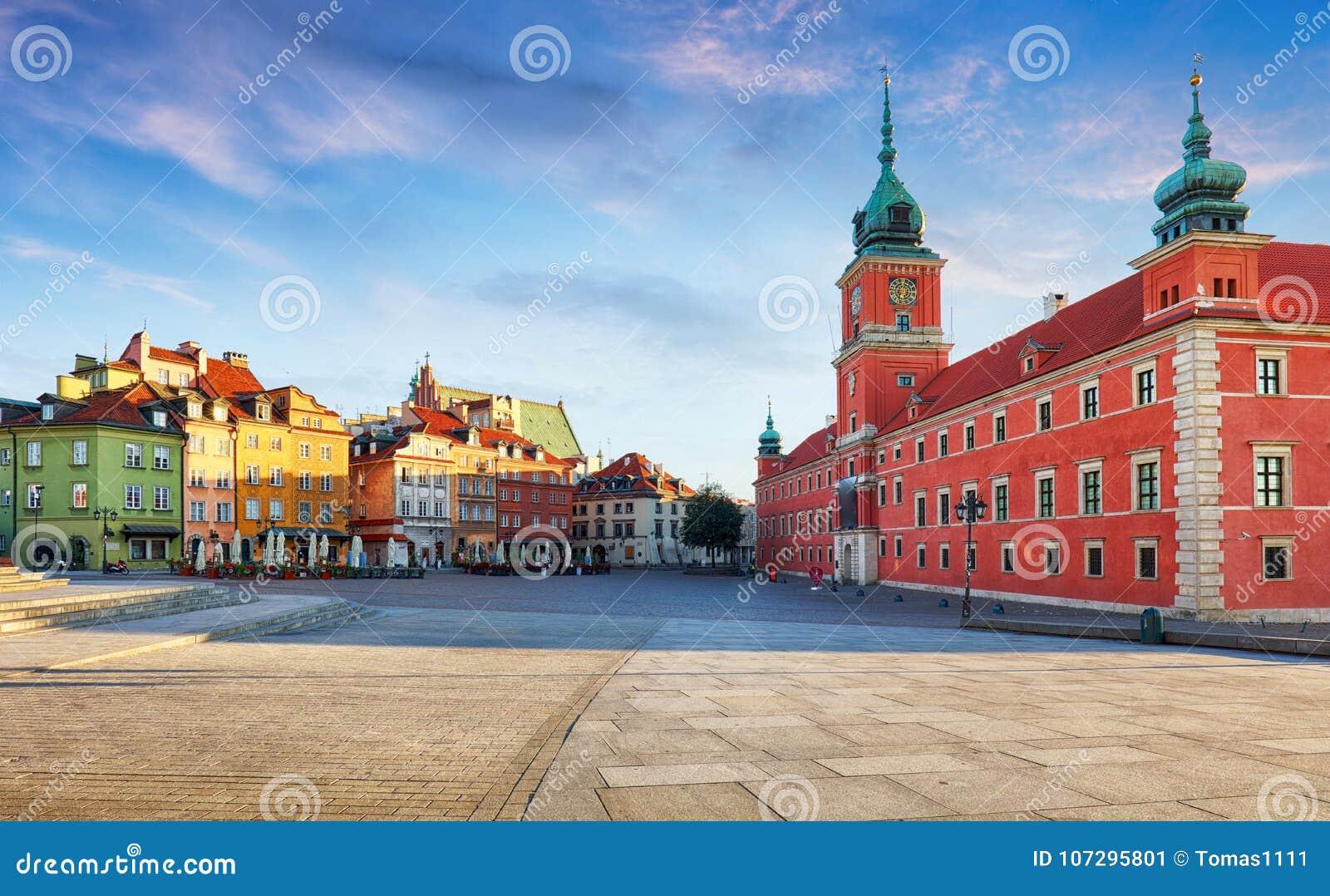 Panorama alter Stadt Warschaus, Polen