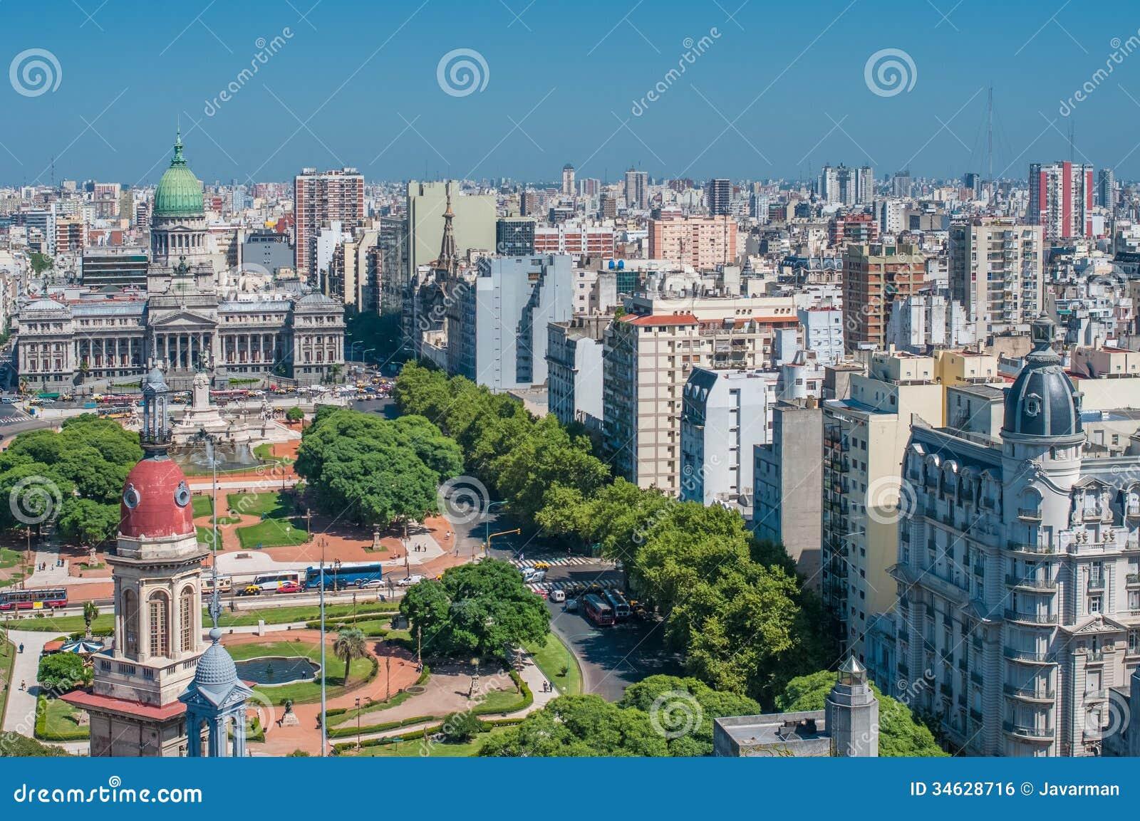 Panorama av Buenos Aires, Argentina