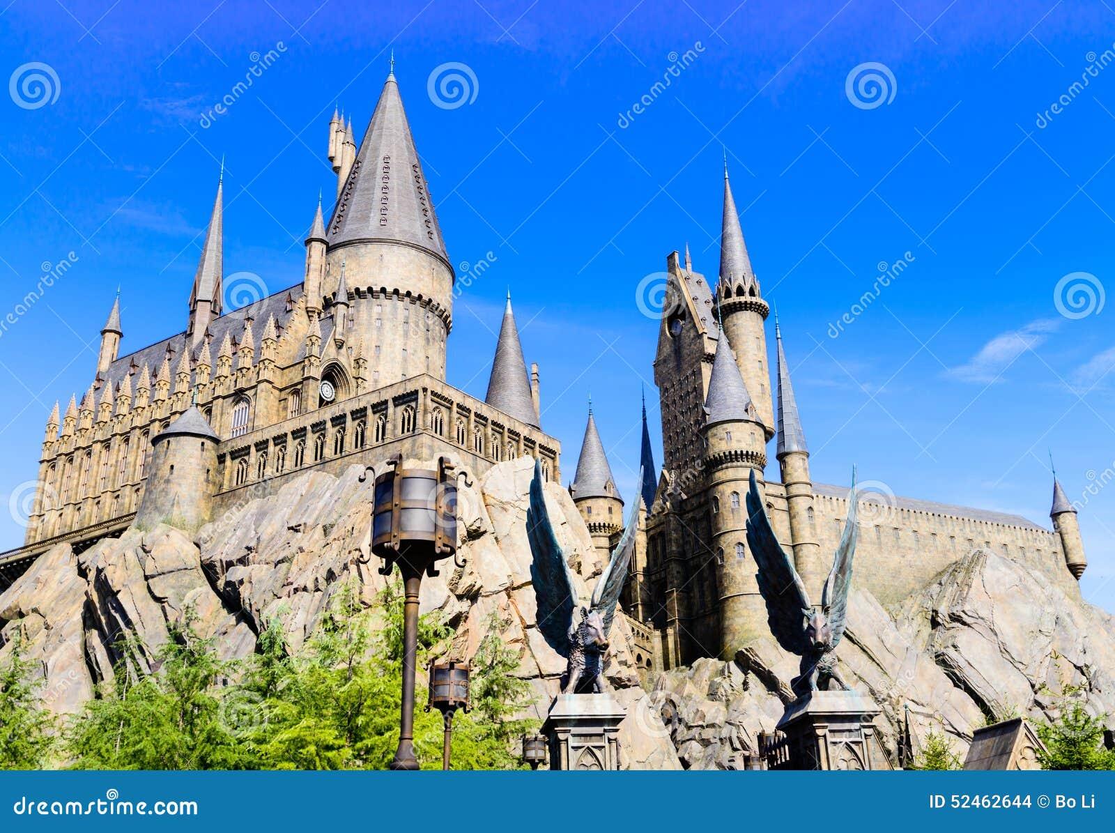 Panorama av den Hogwarts skolan av Harry Potter