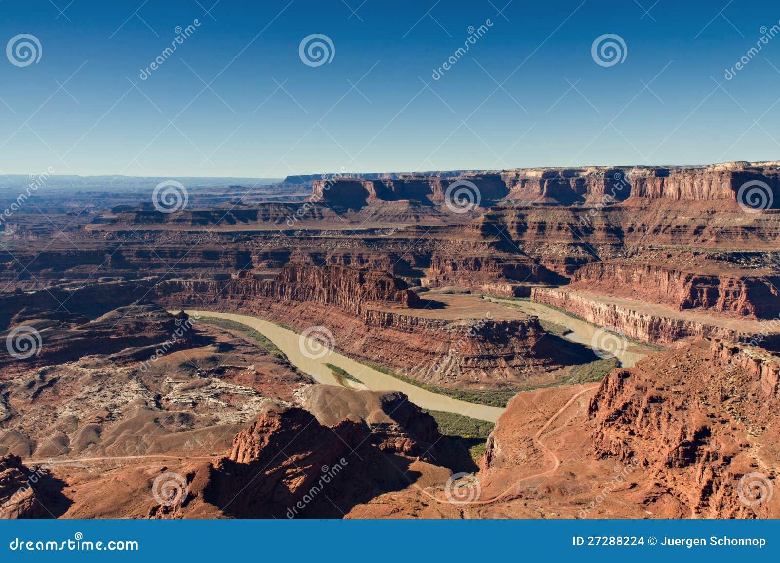 Panorama av hästskoböjningen