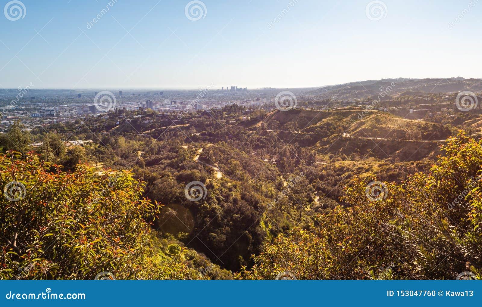 Panorama av Los Angeles stad I