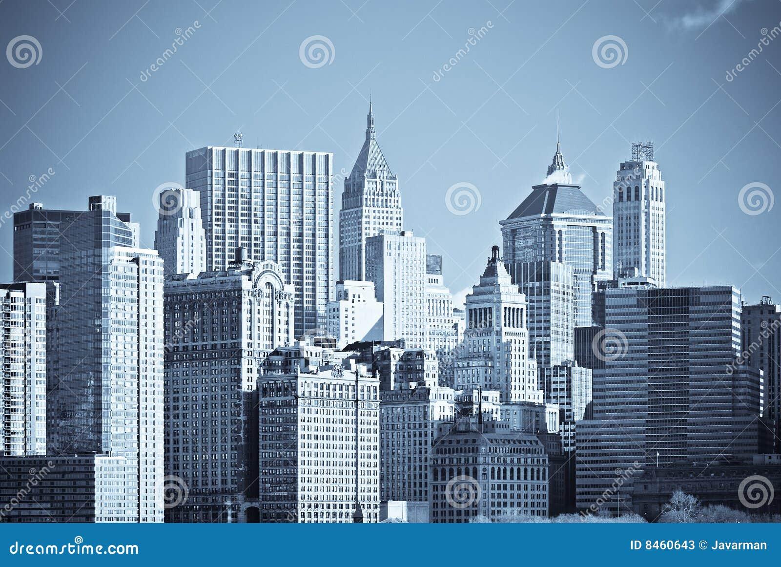 Panorama av manhattan, New York