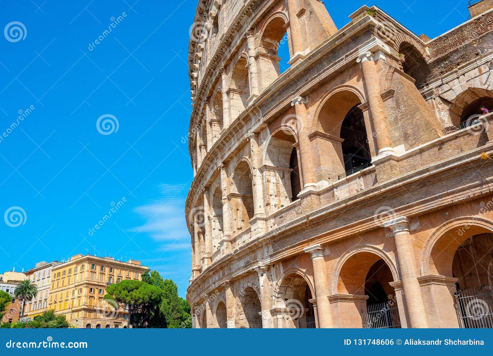 Panorama av Roman Colosseum