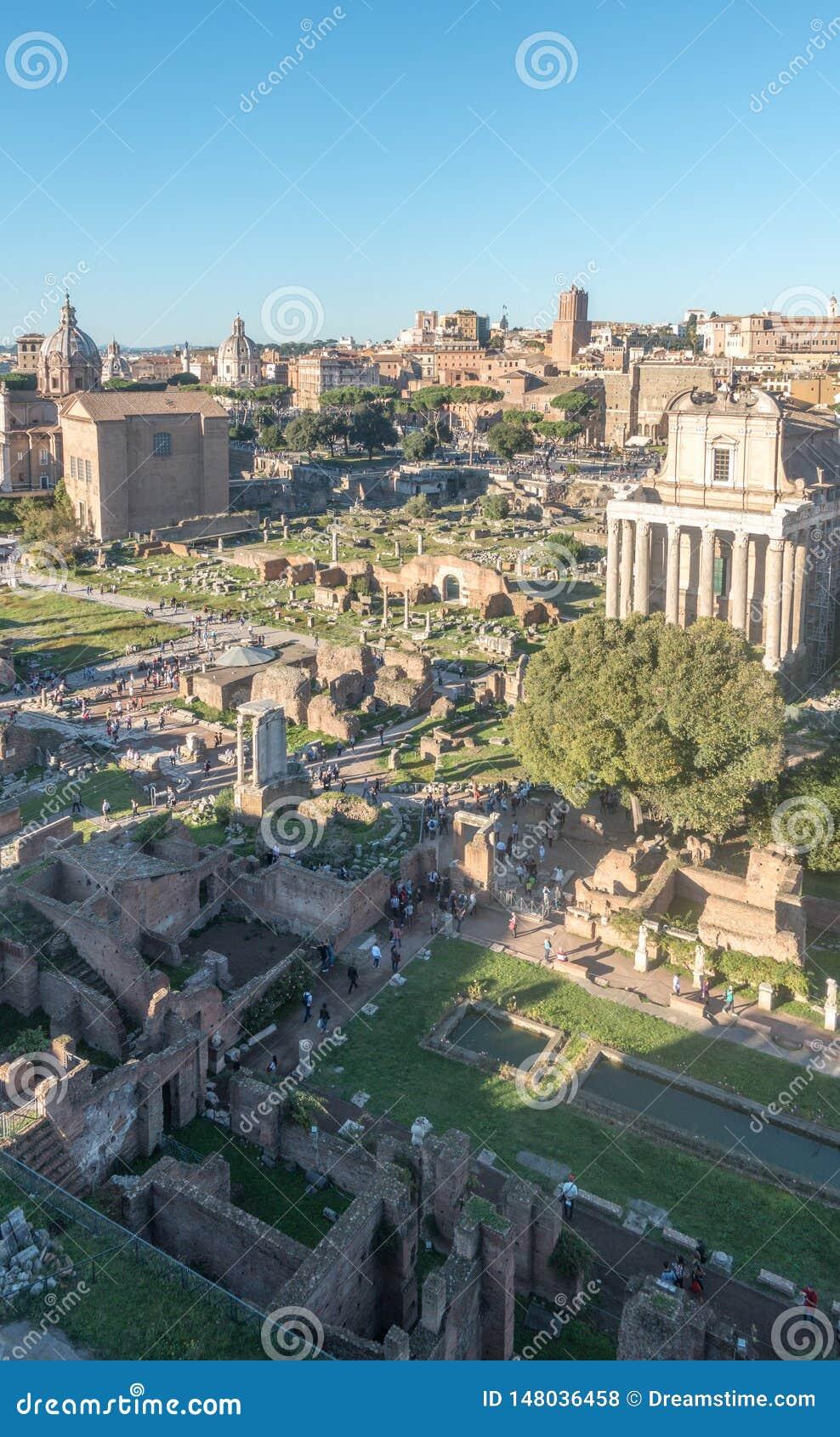 Panorama av Roman Forum