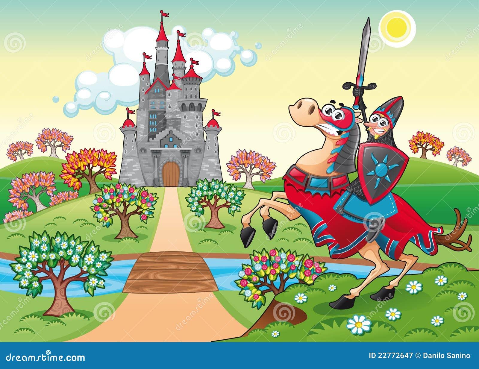 Panorama avec le ch teau et le chevalier m di vaux - Chateau de mike le chevalier ...