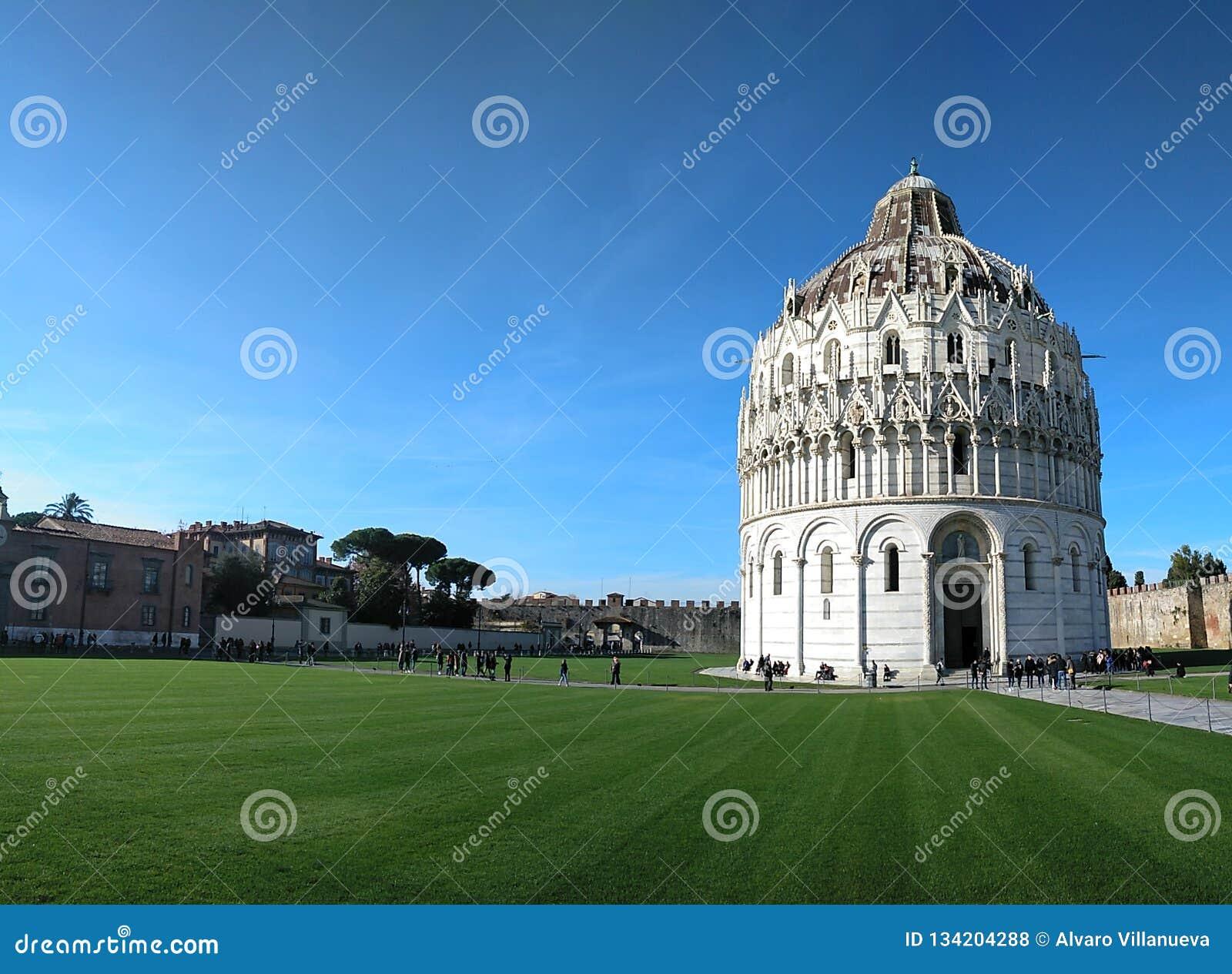 Panorama Of Baptistery Of St. John & (Battistero Di Pisa ...