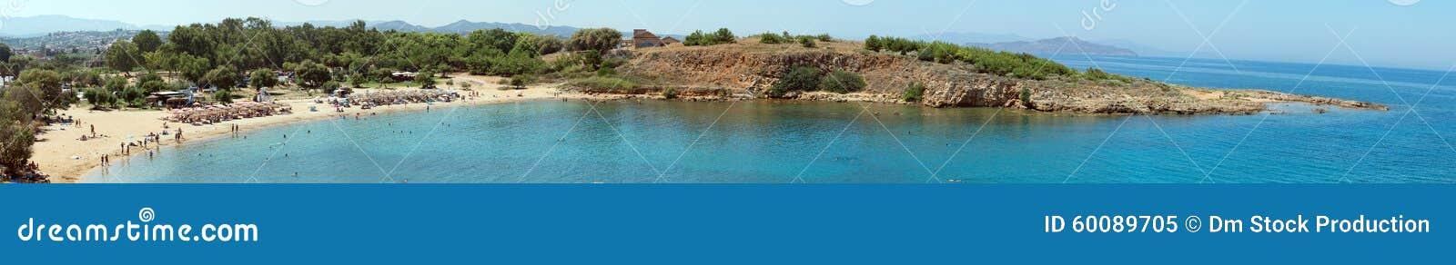 Panorama Of The Beach. Stock Photo - Image: 60089705