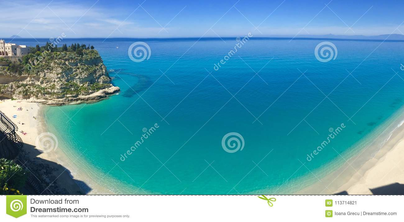Panorama of the beach of Tropea, italy