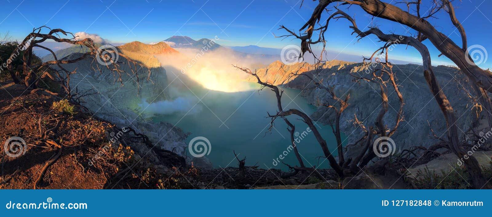 Kawah Ijen at Sunrise.