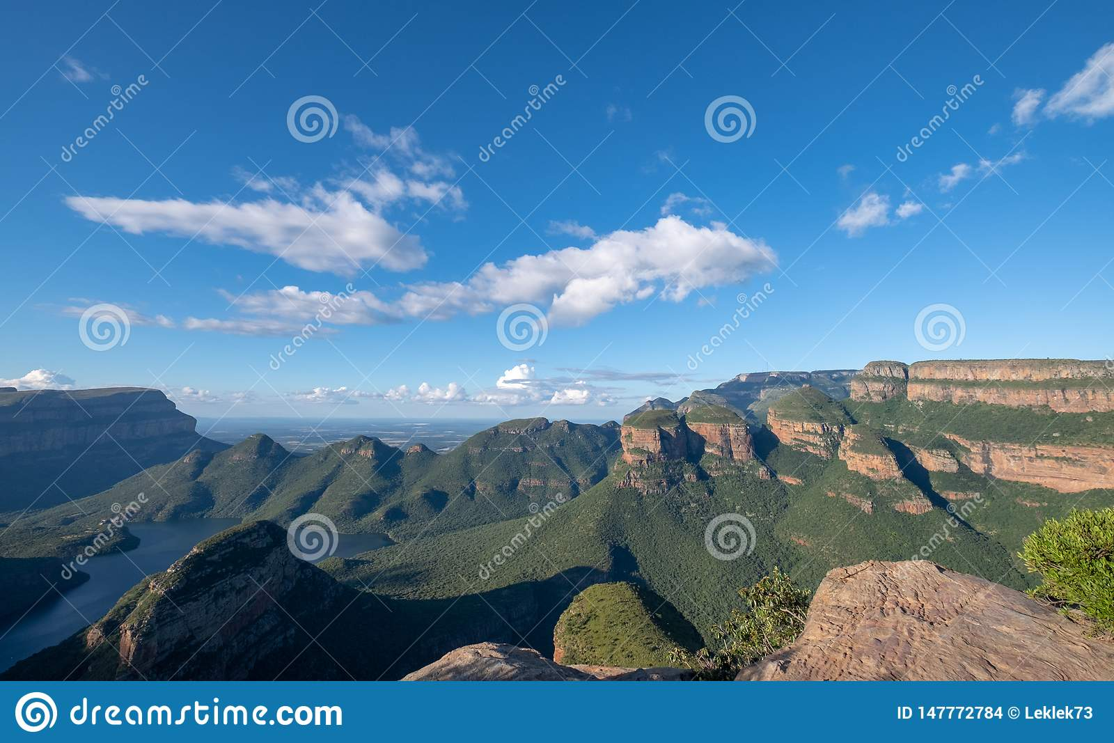 Panorama of the Blyde River Canyon on the Panorama Route, Mpumalanga, South Africa