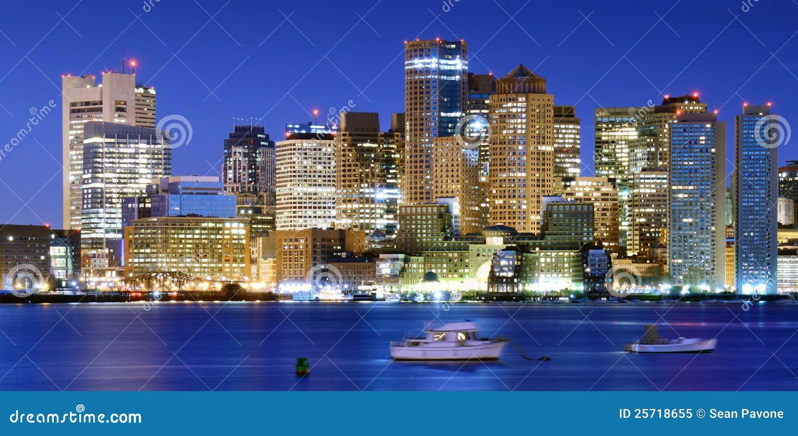 Panorama céntrico de Boston
