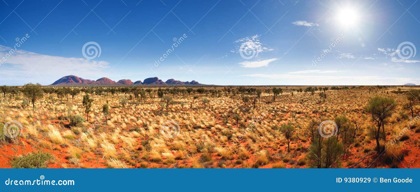 Panorama central de Austrália