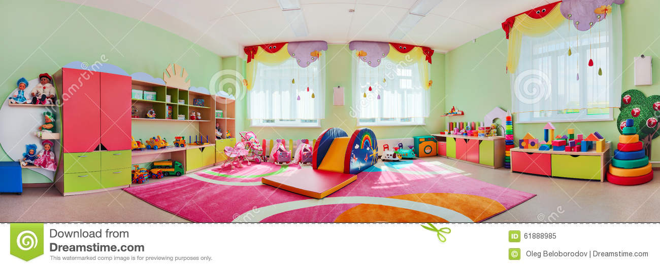 panorama children's playroom. stock photo - image: 61888985