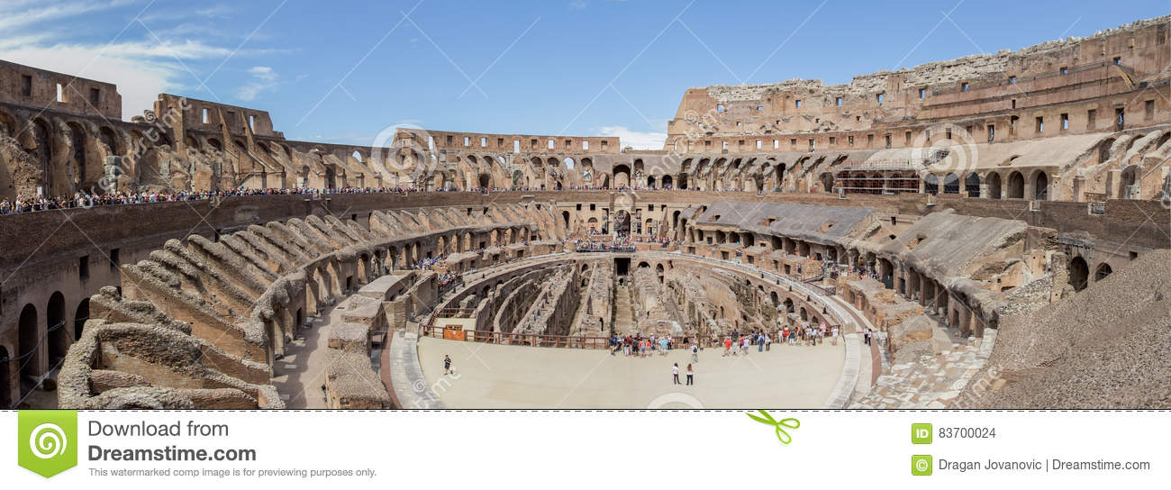 Panorama  Of The Colosseum In Rome Editorial Stock Image