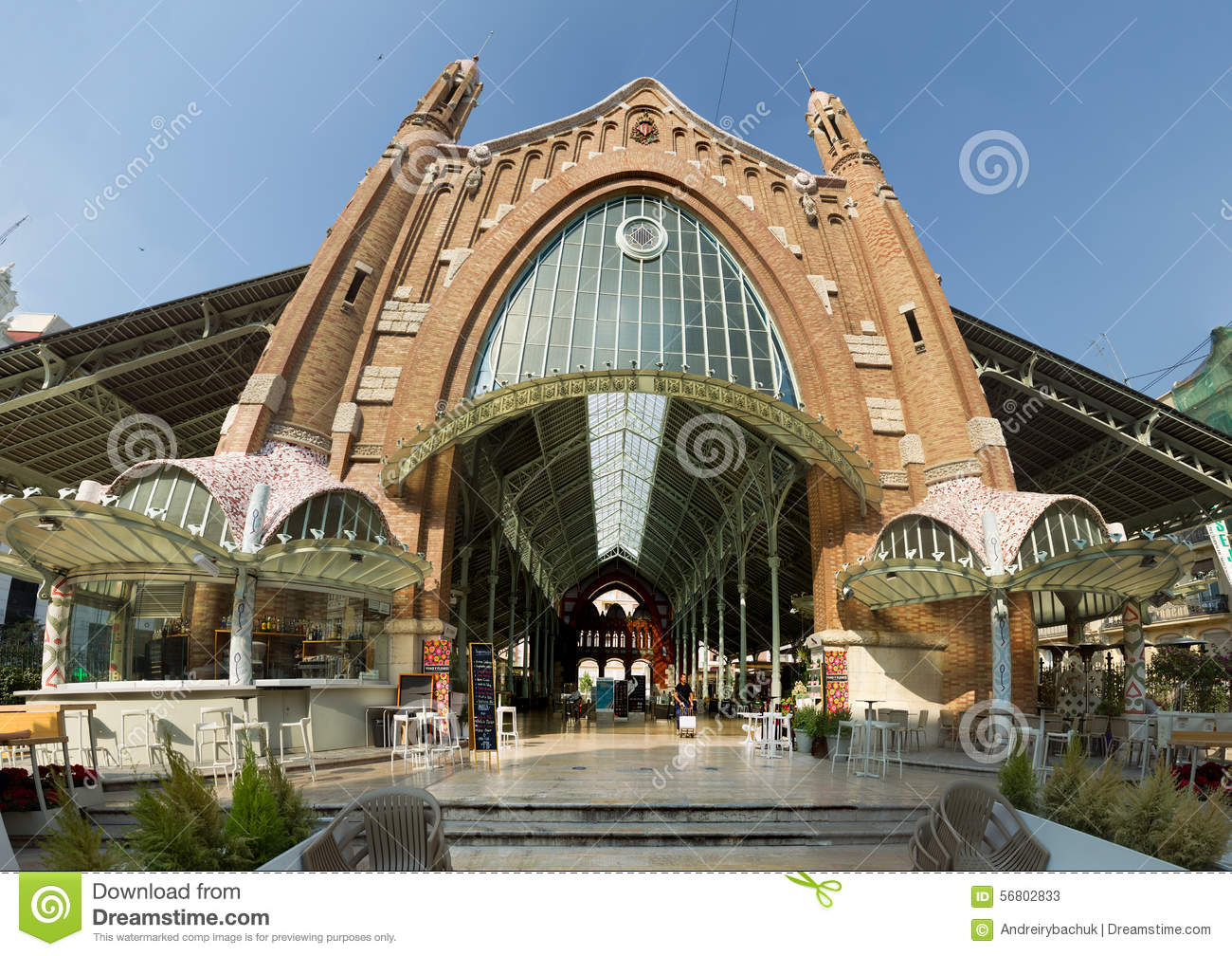 Panorama columbus market in valencia mercado de colon - Art nouveau architecture de barcelone revisitee ...