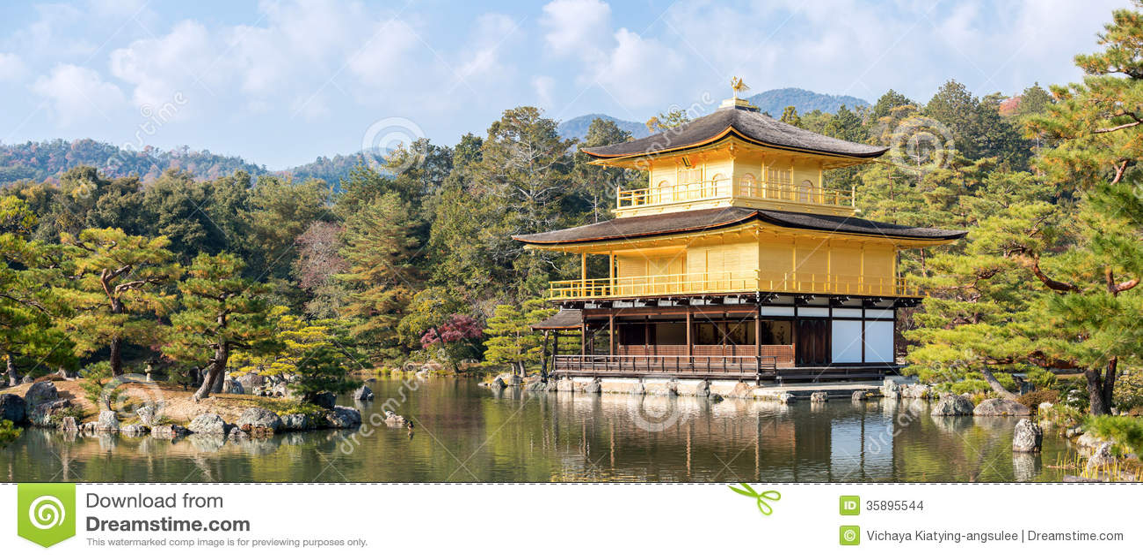 Panorama d or de temple