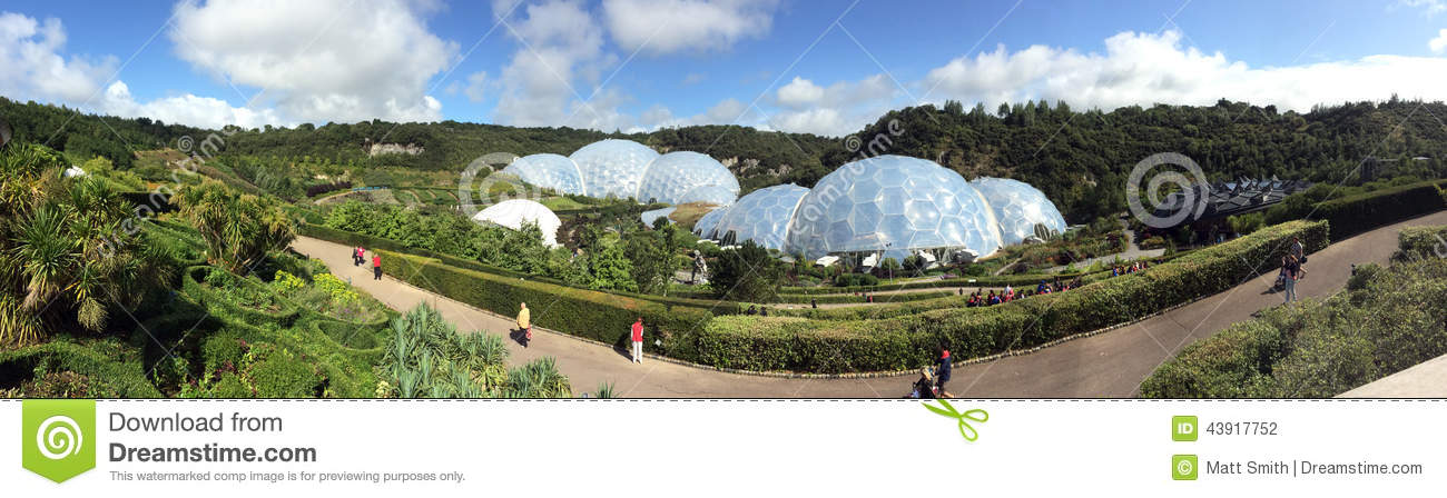 Panorama d Eden Project