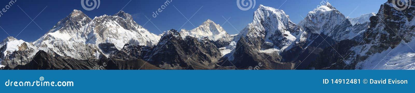 Panorama d Everest