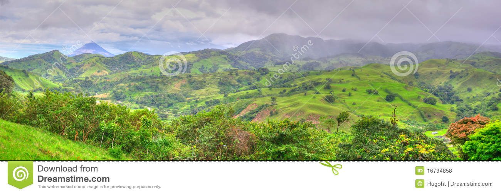 Panorama d horizontal du Costa Rica